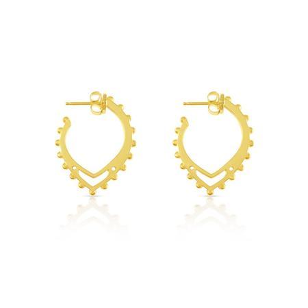 Sierra Winter Jewelry Buffalo Mound Hoop Earrings - Sterling Silver