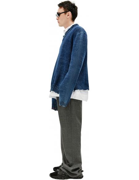 Maison Margiela V-Neck Sweater - Navy blue