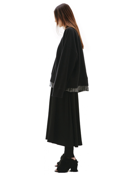 Maison Margiela Black V-Neck Sweatshirt - Black