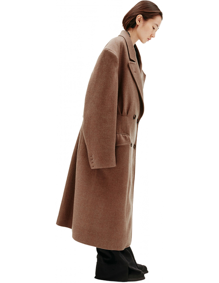 Maison Margiela Double Breasted Coat - Brown