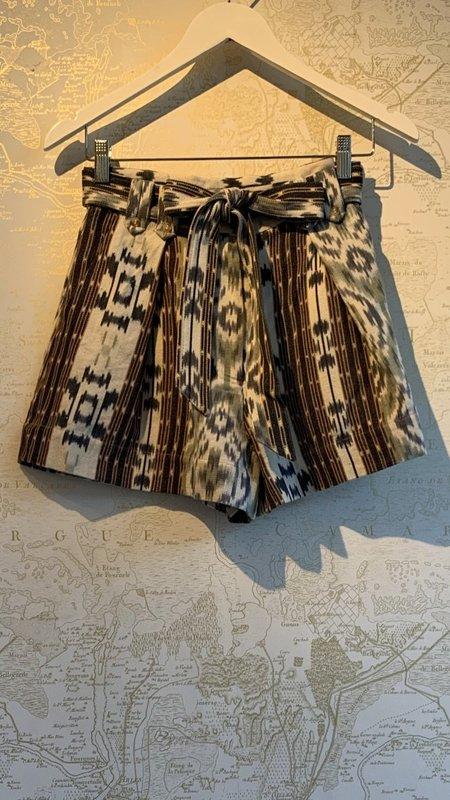 Ulla Johnson Rafa Belted Print Shorts - Azul