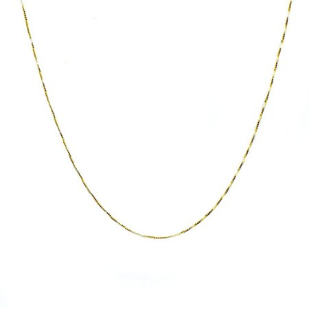Carrie Hoffman Box Chain Necklace - 14k gold yellow