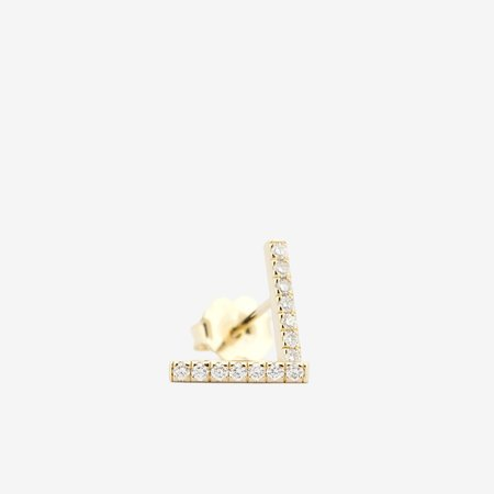 Jack + G Pave Bar Earring - 14k yellow gold