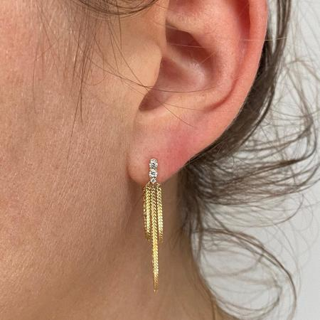 Jack + G Pave Diamond Chandelier Earring - 14k yellow gold