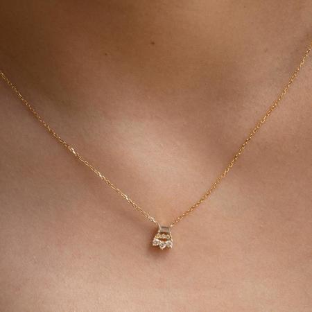 Jennie Kwon Baguette Diamond Lace Necklace - 14K Yellow Gold