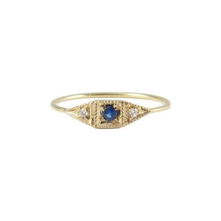 Jennie Kwon Designs Sapphire Mini Deco Point Ring