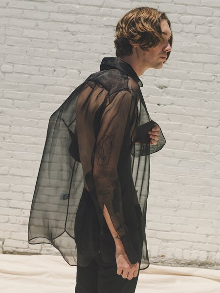 LUDOVIC DE SAINT SERNIN Silk Organza Go To Shirt - Black