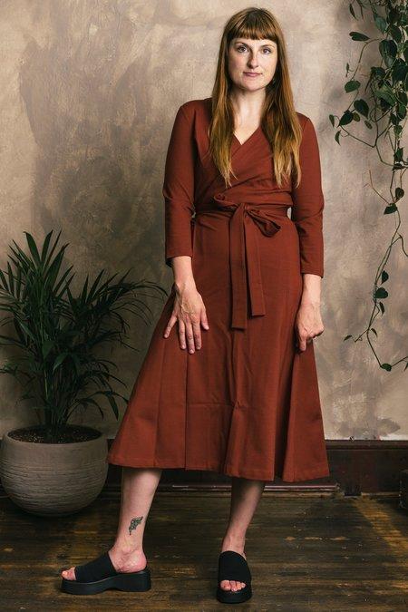 Altar Houseline Una Dress - Terra Cotta Brick