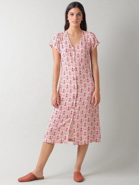 Indi & Cold Beth Print Dress - Cherry