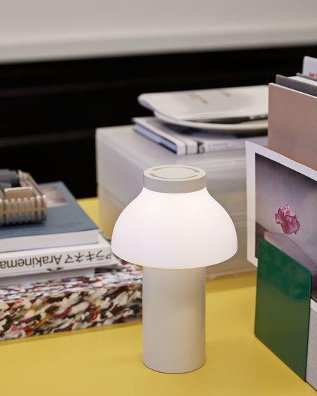 Hay PC Portable Lamp - Cream/White