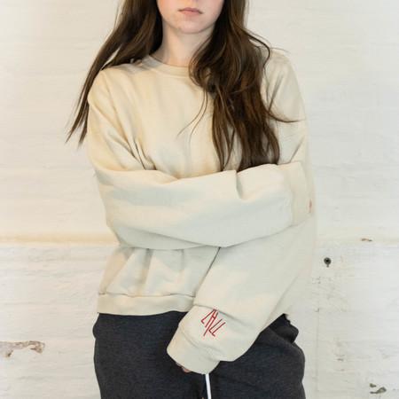 Little High, Little Low COBAIN CREW sweater - bone dust