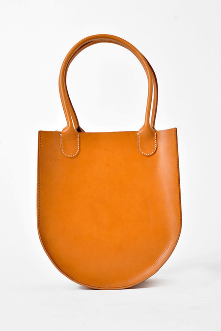 Sara Barner Leather Russell Tote - Tan