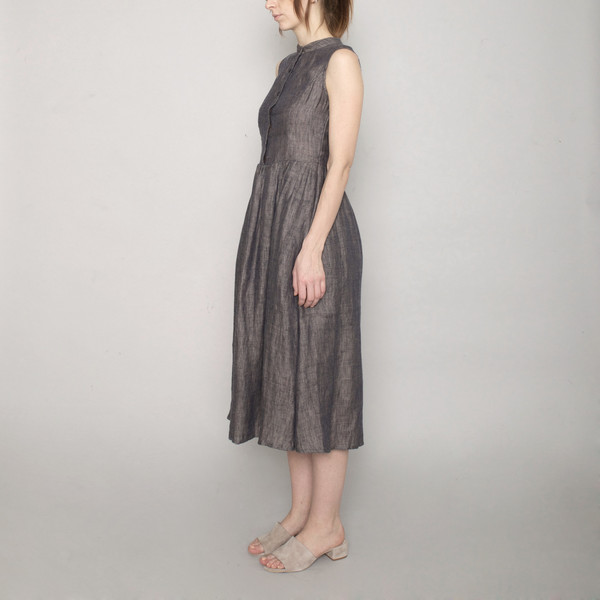 da8725b97a3 7115 by Szeki Linen Princess Dress - Charcoal - SS17 ...