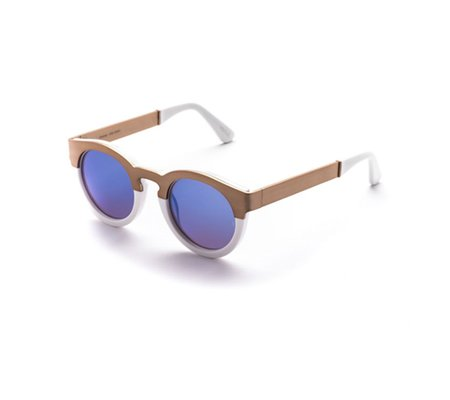 Unisex SUNDAY, SOMEWHERE Soelae Sunglasses - Metal/White