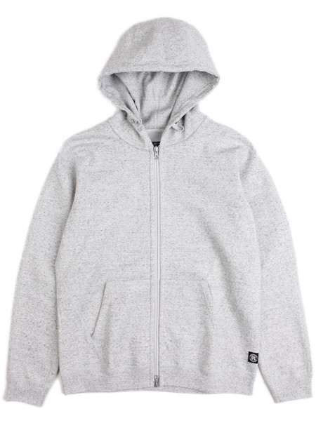 Reigning Champ Bonded Terry Full Zip Hoodie Heather Grey