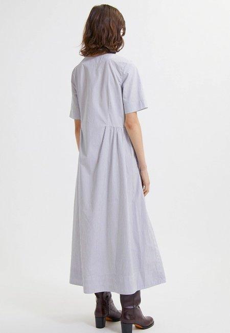 Wood Wood Nova Poplin Dress - Blue Stripe