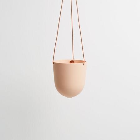 Capra Designs Block Color Hanging Planter - Salt