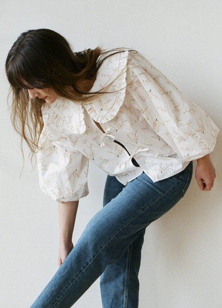 Naya Rea Emilia Blouse - White/Pink Floral