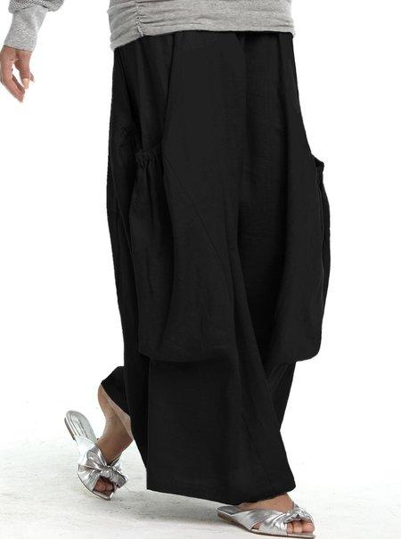 Planet Linen Big Pocket Pants - Black