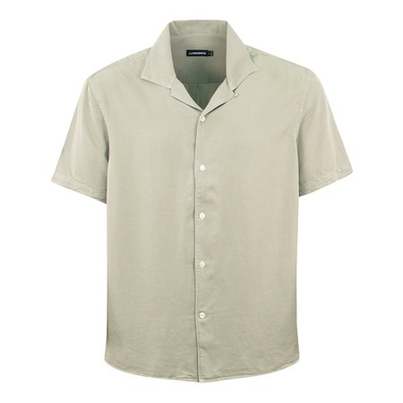 J Lindeberg Comfort Tencel SS Resort Shirt - Sage