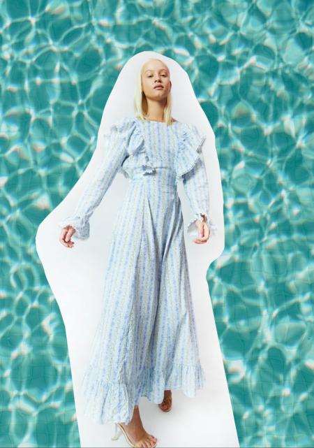 Cras Moricras Dress - Blue Rose