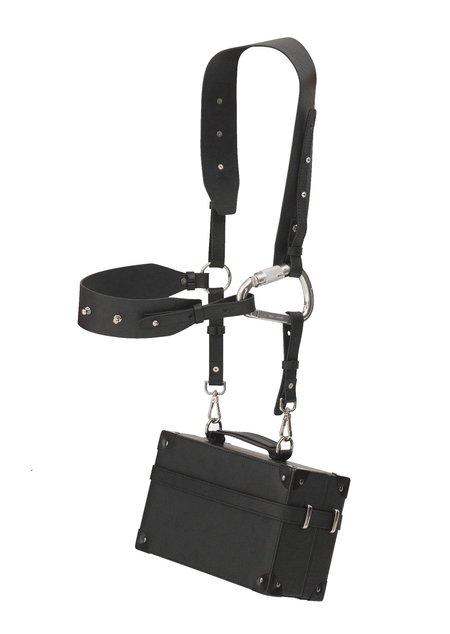 Heliot Emil Leather Trunk Bag - black