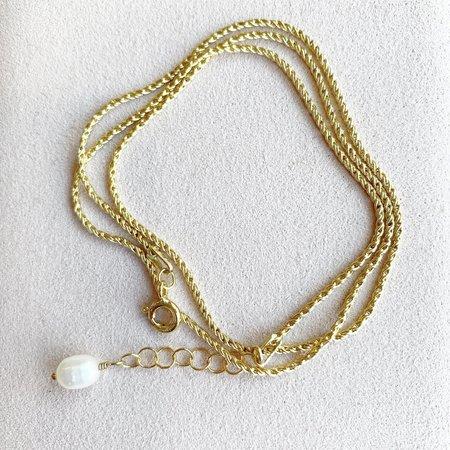 Leah Alexandra Rope Wrap - Gold/pearl