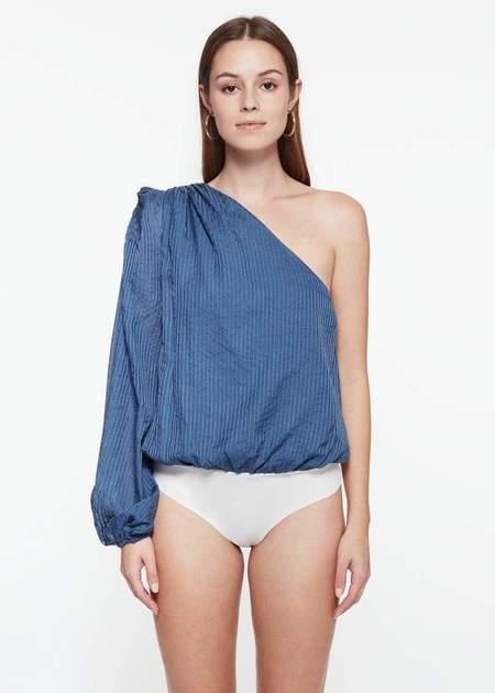 CAMI NYC Lenore Bodysuit - Denim Blue