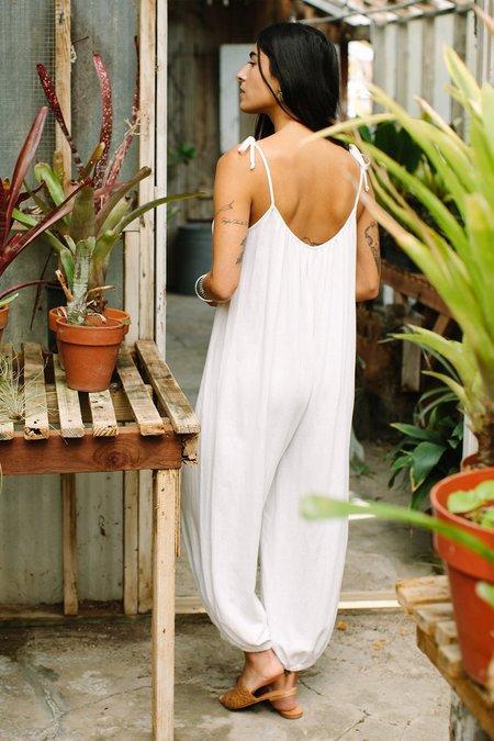 Rachel Pally Linen Alexandra Jumpsuit - Chalk
