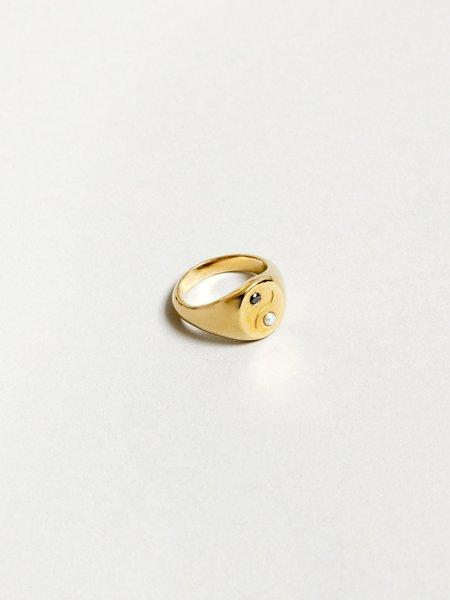 Wolf Circus Astra Ying-Yang Pearl Ring - Gold