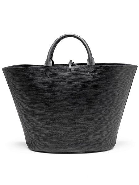Officina del Poggio Large Cesta Bag -  Black Leather