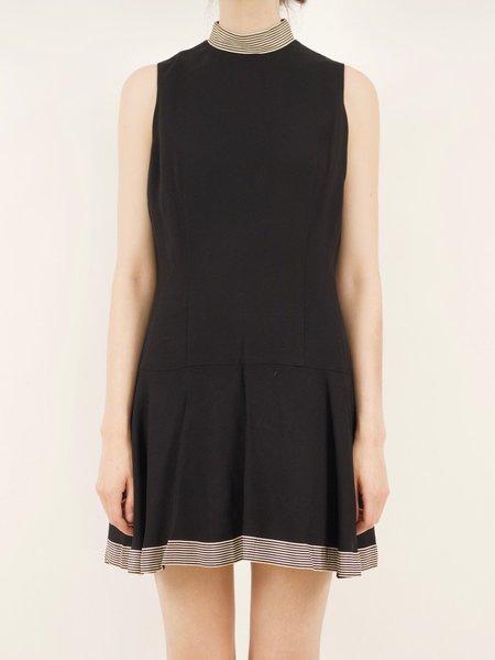 Vintage 60's mod drop-waist dress - black