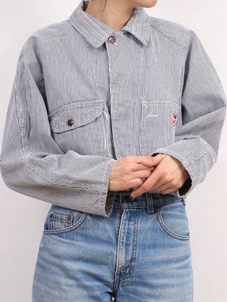 Vintage  gwg red strap jacket - hickory stripe