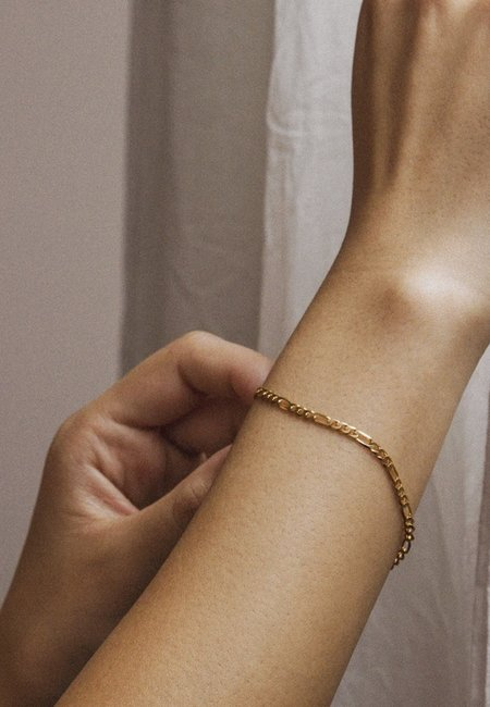 Meadowlark 19cm  Figaro Fine Chain Bracelet - Silver
