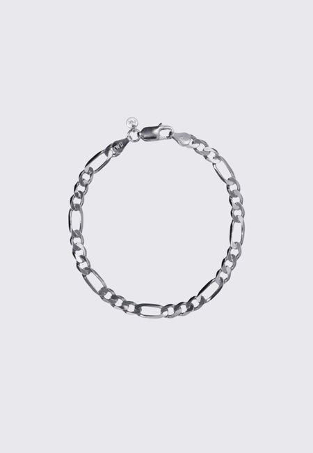 Meadowlark Figaro Wide Chain Bracelet 19cm - silver