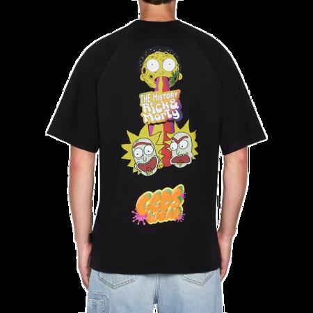 GCDS Rick and Morty Men RM21M020064-02 T-Shirt - Black