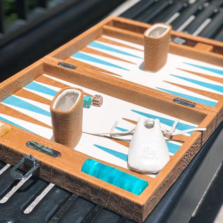 Hector Saxe Large Backgammon Alain - Ambre
