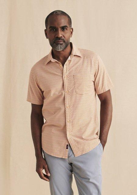 Faherty S/S Playa Shirt - Ancient Wave Print