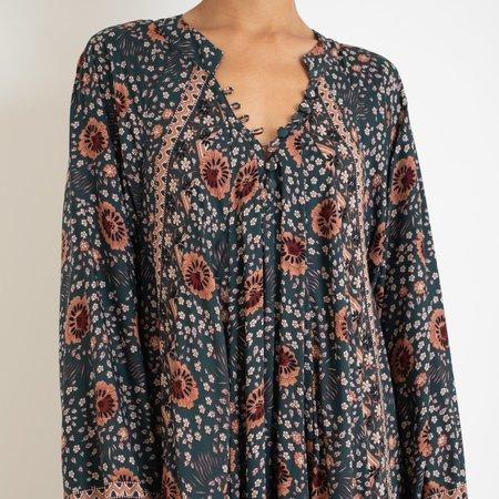 Natalie Martin Fiore Maxi Dress - Vintage Flowers Olive