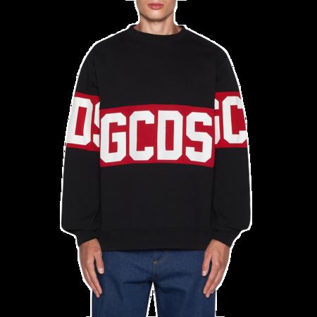 GCDS Crewneck GCDS Logo Band Men CC94M021012-02 Sweatshirt - black