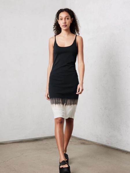 raquel allegra horizon jersey layering dress - BLACK