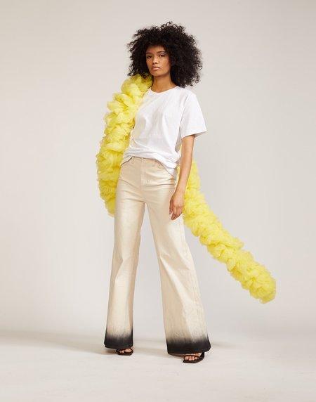 Cynthia Rowley Tulle Boa scarf - yellow
