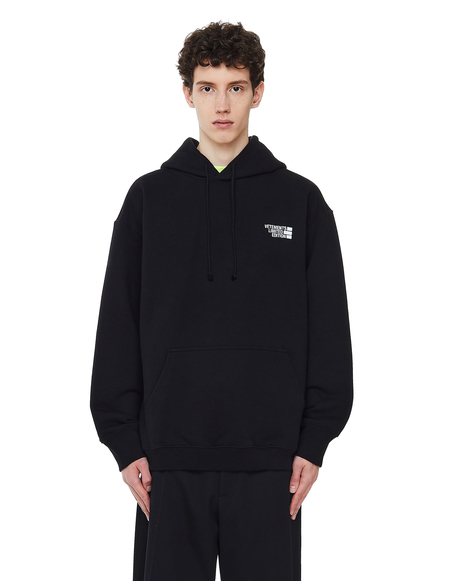 Vetements Limited Edition Embroidered Hoodie SWEATER - Black
