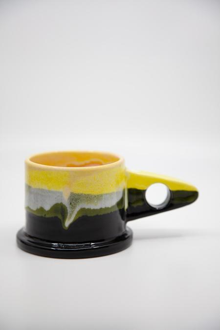 Peter Shire Dipped Mug - Black/Yellow