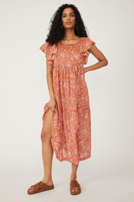Free People Bonita Midi Dress - Printed