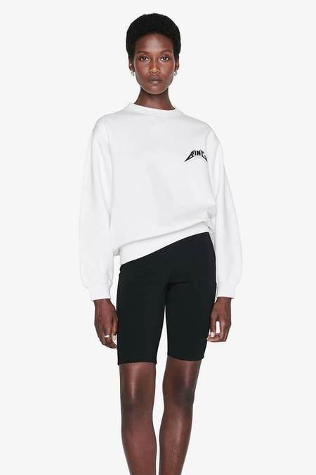 Anine Bing Ramona Tour Sweatshirt - White