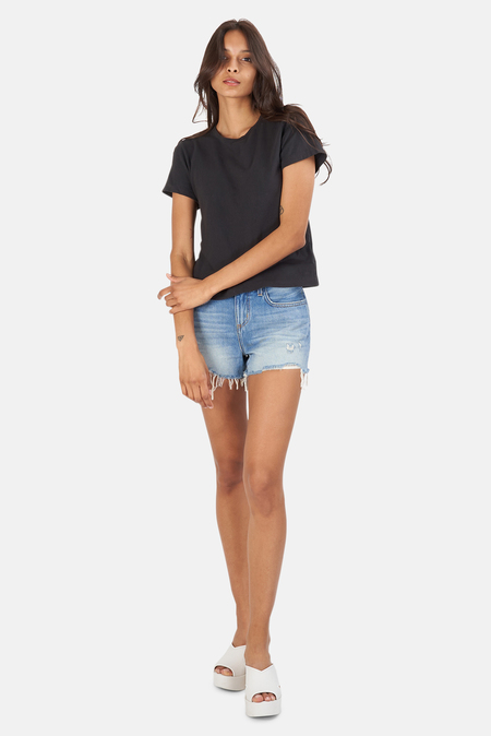 RE/DONE Classic T-Shirt - Washed Black