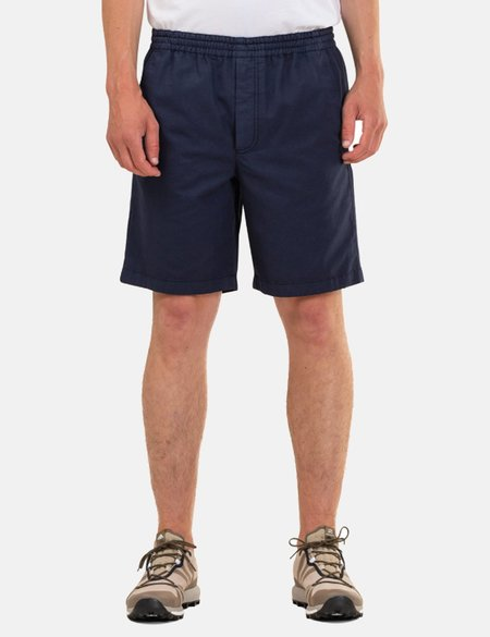 Norse Projects Evald Canvas Work Shorts - Navy Blue