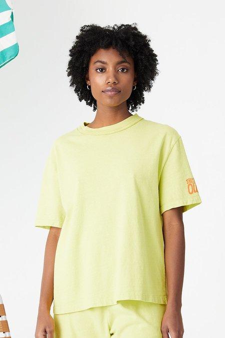 Unisex back beat rags Everybody Tee - Celery