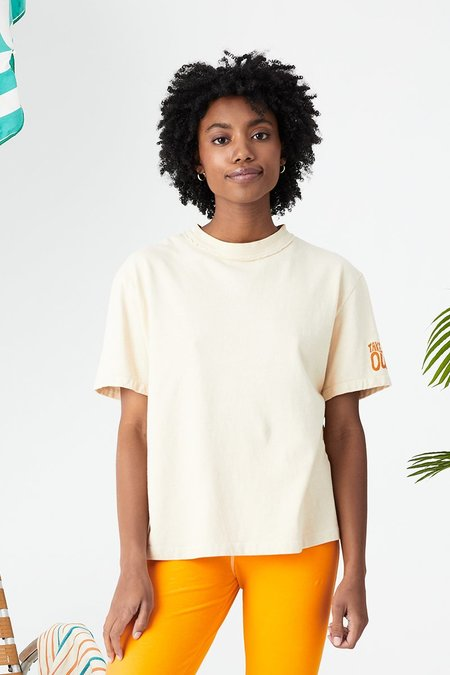 Unisex back beat rags Everybody Tee - Cereal